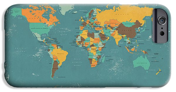 Retro Political Map Of The World IPhone 6s Case by Michael Tompsett