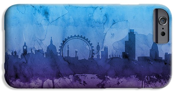 Cities iPhone 6s Case - London England Skyline by Michael Tompsett