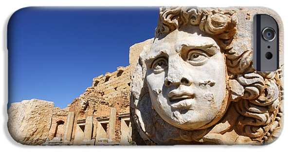 Sculpted Medusa Head At The Forum Of Severus At Leptis Magna In Libya IPhone 6s Case