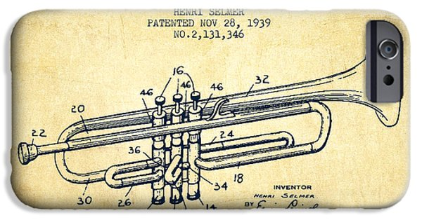 Vinatge Trumpet Patent From 1939 IPhone 6s Case by Aged Pixel