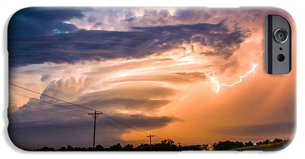 Nebraskasc iPhone 6s Case - Wicked Good Nebraska Supercell by NebraskaSC