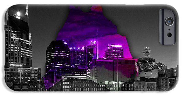 Nashville Skyline And Map Watercolor IPhone 6s Case