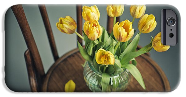 Tulip iPhone 6s Case - Still Life With Yellow Tulips by Nailia Schwarz