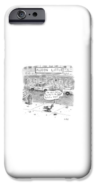 Pigeon iPhone 6s Case - Captionless by Roz Chast