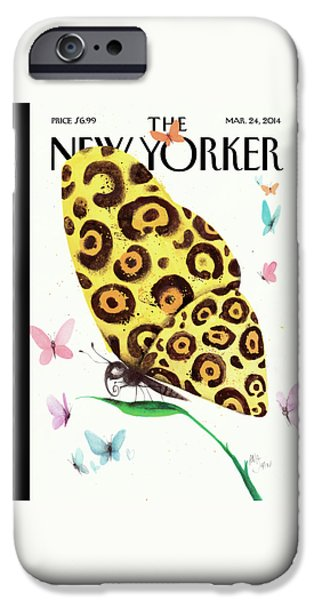 A Butterfly With A Cheetah Pattern Rests IPhone 6s Case
