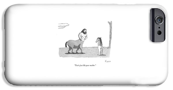A Centaur Angrily Talks To A Creature Who IPhone 6s Case by Zachary Kanin