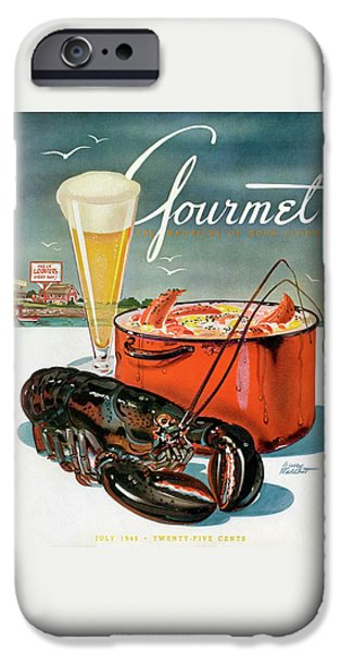 A Lobster And A Lobster Pot With Beer IPhone 6s Case