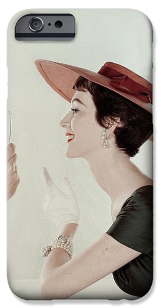 A Model Wearing A Sun Hat And Dress IPhone 6s Case by John Rawlings