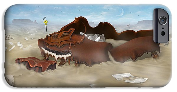 Buzzard iPhone 6s Case - A Slow Death In Piano Valley - Panoramic by Mike McGlothlen