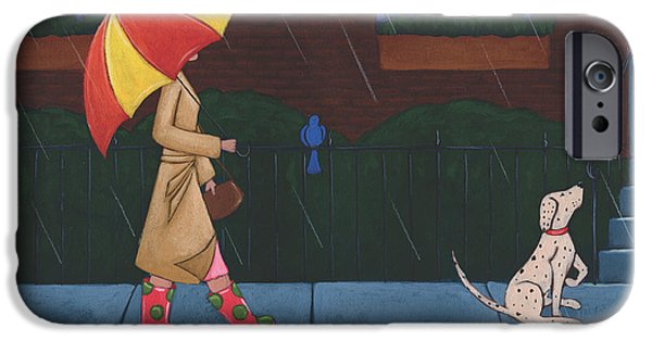 A Walk On A Rainy Day IPhone 6s Case by Christy Beckwith