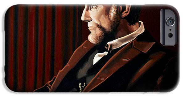 Abraham Lincoln iPhone 6s Case - Abraham Lincoln By Daniel Day-lewis by Paul Meijering