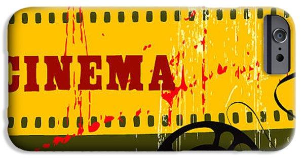 Digital Image iPhone 6s Case - Abstract Cinema Poster by Yaman Sarikaya