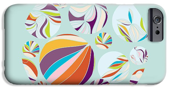 Digital Image iPhone 6s Case - Abstract Circles Background -  With by Run4it