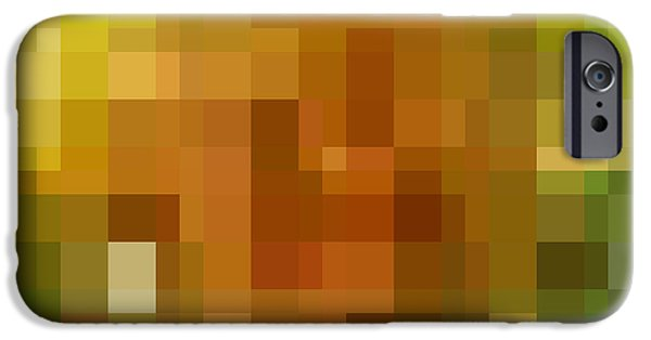Digital Image iPhone 6s Case - Abstract Geometric Background by Florian Augustin