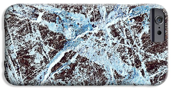 Abstract Scribble Pattern On Stone IPhone 6s Case by Jozef Jankola