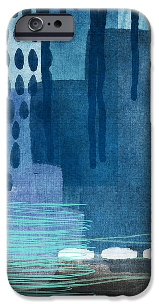 Contemporary iPhone 6s Case - After Rain- Contemporary Abstract Painting  by Linda Woods