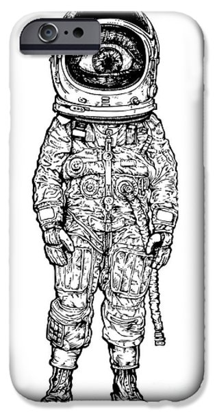 Space iPhone 6s Case - Amazement Astronaut. Vector Illustration by Jumpingsack