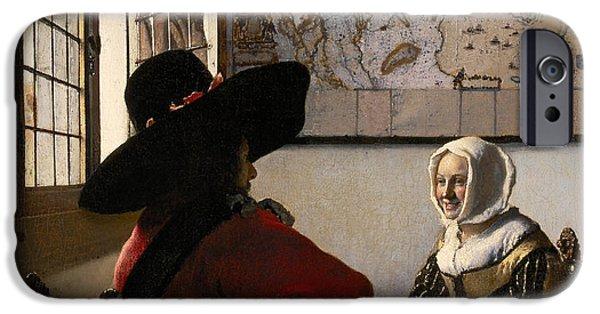 Amorous Couple IPhone Case by Jan Vermeer