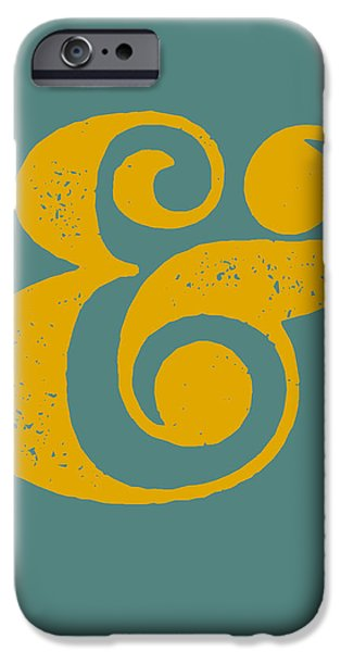 Ampersand Poster Blue And Yellow IPhone 6s Case by Naxart Studio