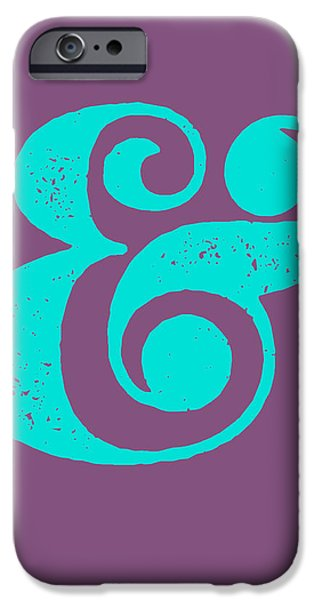 Ampersand Poster Purple And Blue IPhone 6s Case by Naxart Studio