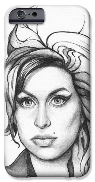 Amy Winehouse IPhone 6s Case by Olga Shvartsur