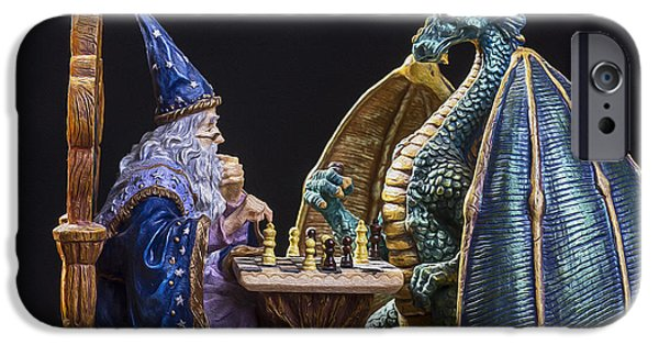 Dungeon iPhone 6s Case - An Epic Chess Match by Bill Tiepelman