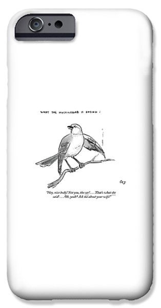Mockingbird iPhone 6s Case - An Incendiary Mockingbird Is Depicted by Carolita Johnson