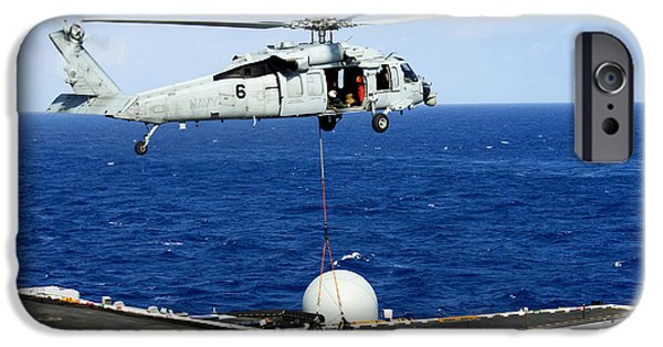 An Mh-60r Seahawk Helicopter Places IPhone Case by Stocktrek Images