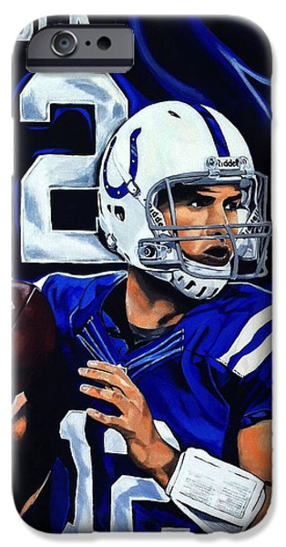 Andrew Luck IPhone 6s Case by Chris Eckley