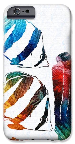 Scuba Diving iPhone 6s Case - Angel Fish Art - Little Angels 2 - By Sharon Cummings  by Sharon Cummings