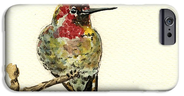 Hummingbird iPhone 6s Case - Anna S Hummingbird by Juan  Bosco