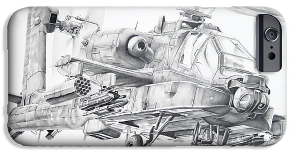 Helicopter iPhone 6s Case - Apache by James Baldwin Aviation Art