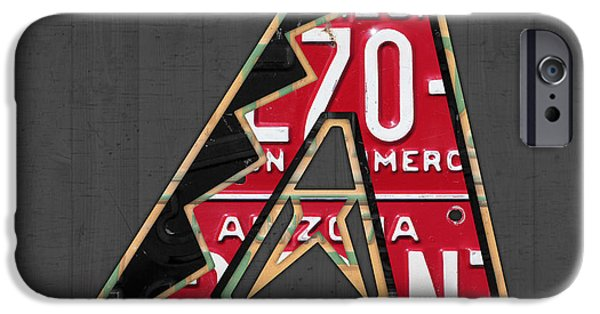 Diamondback iPhone 6s Case - Arizona Diamondbacks Baseball Team Vintage Logo Recycled License Plate Art by Design Turnpike