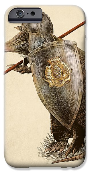 Pencil iPhone 6s Case - Armadillo by Eric Fan