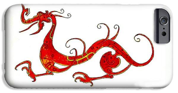 Dragon iPhone 6s Case - Asian Dragon by Michael Vigliotti