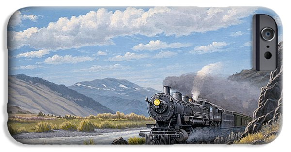 Train iPhone 6s Case - At Point Of Rocks- Bound For Livingston  by Paul Krapf