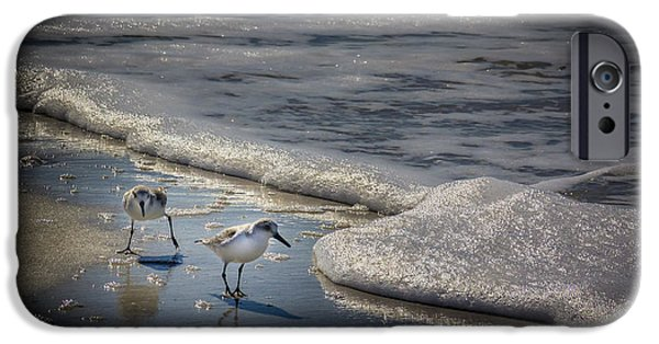 Sandpiper iPhone 6s Case - Attack Of The Sea Foam by Marvin Spates