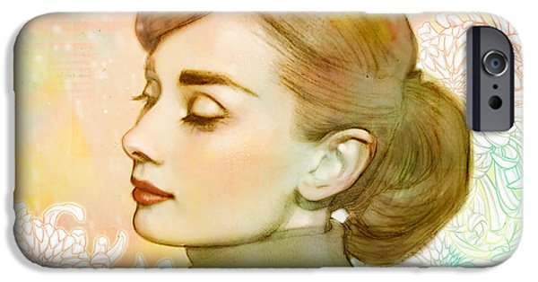Audrey Hepburn iPhone 6s Case - Audrey Hepburn by Catherine Noel