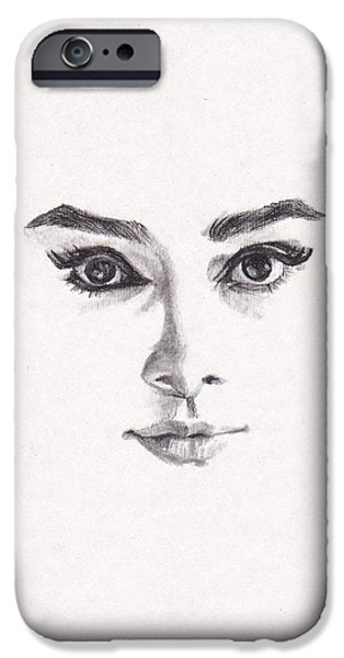 Audrey IPhone 6s Case by Lee Ann Shepard