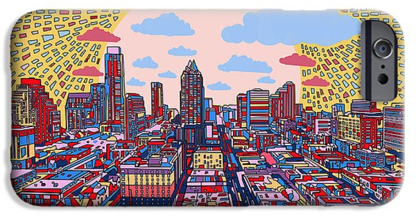 Austin Skyline iPhone 6s Case - Austin Texas Abstract Panorama 2 by Bekim Art