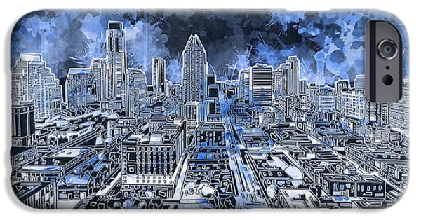 Austin Skyline iPhone 6s Case - Austin Texas Abstract Panorama 5 by Bekim Art