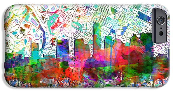 Austin Skyline iPhone 6s Case - Austin Texas Abstract Panorama 7 by Bekim Art