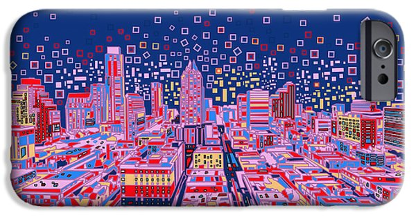 Austin Skyline iPhone 6s Case - Austin Texas Abstract Panorama by Bekim Art
