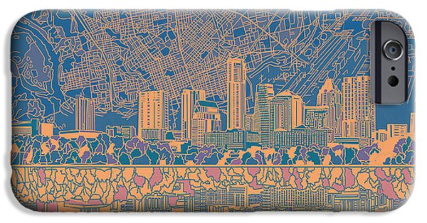 Austin Skyline iPhone 6s Case - Austin Texas Skyline 2 by Bekim Art