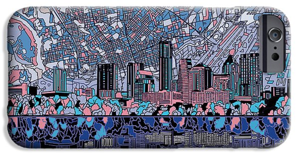 Austin Skyline iPhone 6s Case - Austin Texas Skyline 3 by Bekim Art