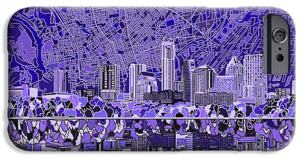 Austin Skyline iPhone 6s Case - Austin Texas Skyline 4 by Bekim Art