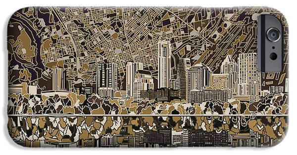 Austin Skyline iPhone 6s Case - Austin Texas Skyline 5 by Bekim Art