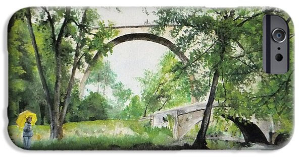 IPhone 6s Case featuring the painting Aux Pieds Des Ponts De Pierre - Perthuis by Marc Philippe Joly