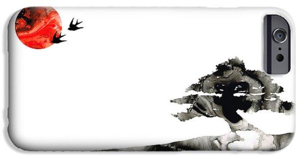 Swallow iPhone 6s Case - Awakening - Zen Landscape Art by Sharon Cummings