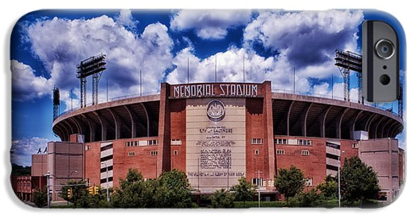 Oriole iPhone 6s Case - Baltimore Memorial Stadium 1960s by Mountain Dreams
